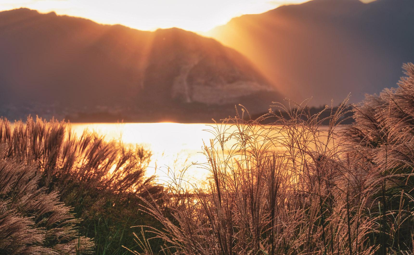 Il progetto Laveno: lago al tramonto